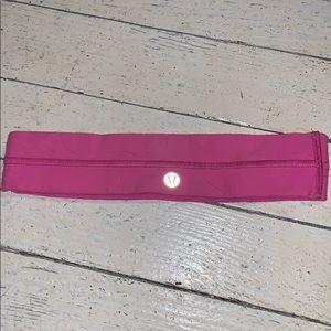 lulu lemon hot pink headband